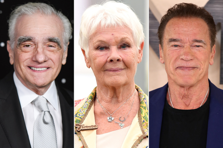 Martin Scorsese, Judy Dench, Arnold Schwarzenegger