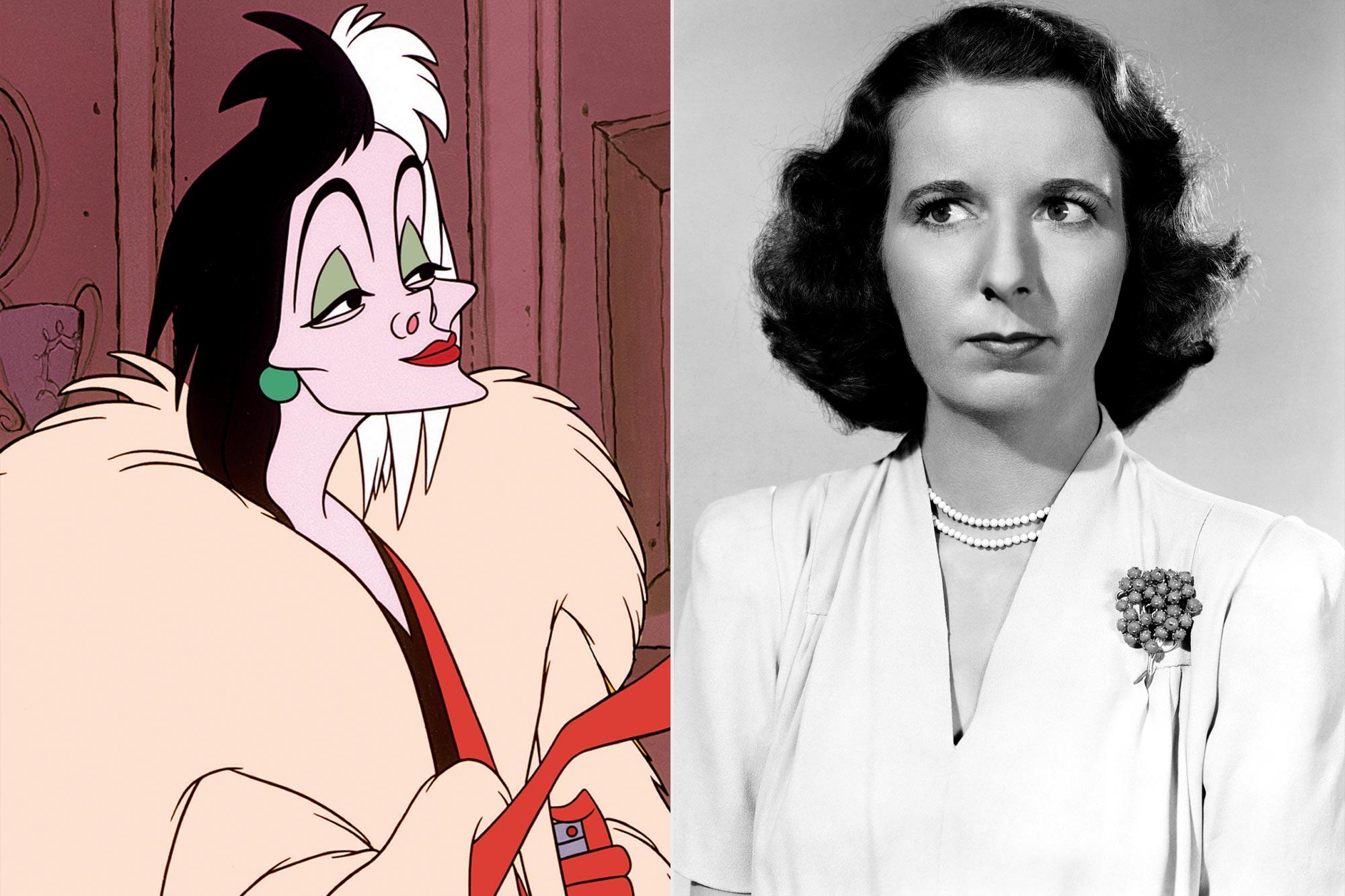 Cruella in 101 DALMATIANS; Mary Wickes