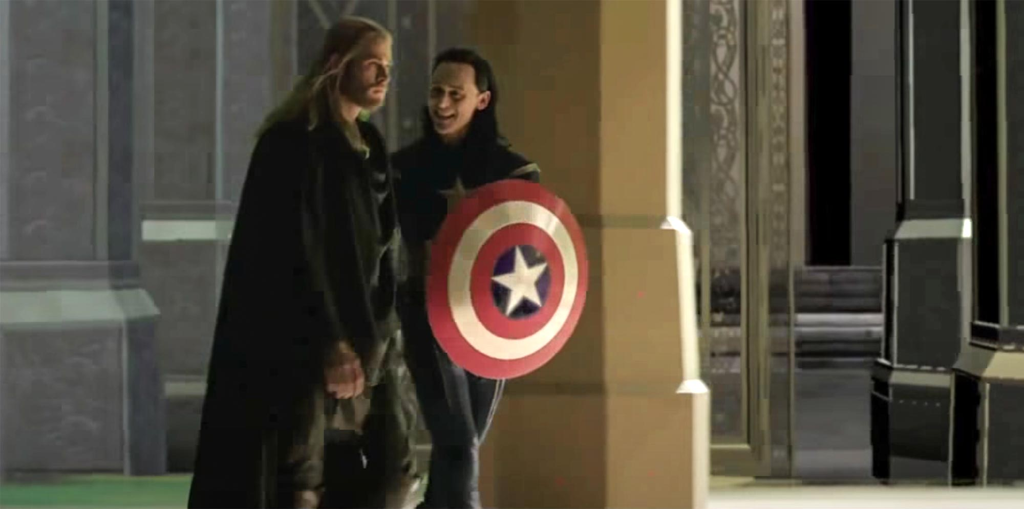 Thor: The Dark World Tom Hiddleston playing Captain America