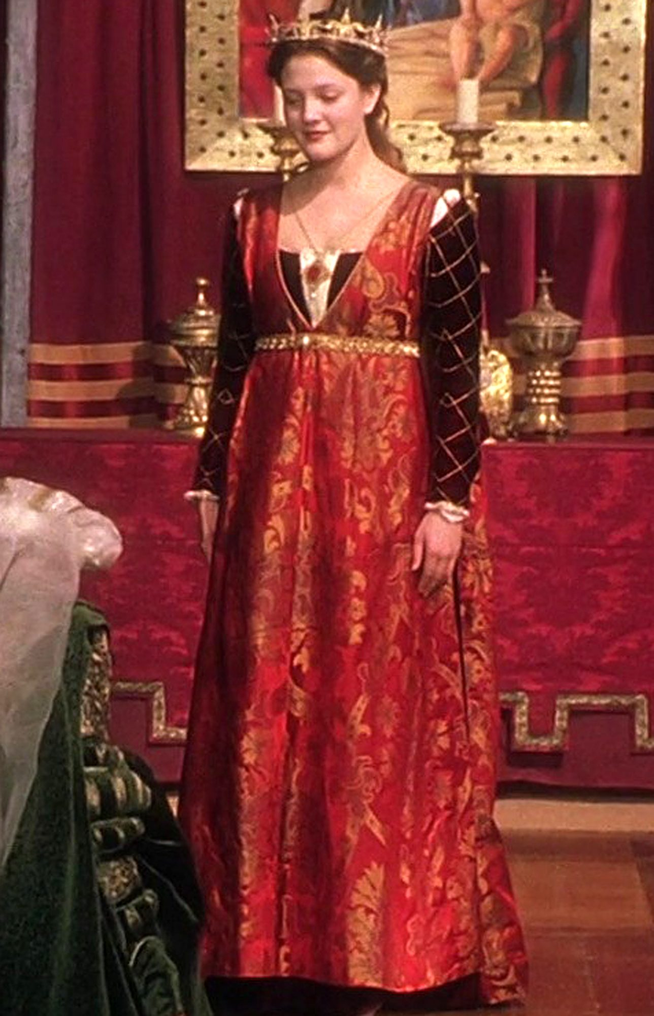 Drew Barrymore and Anjelica Huston in Ever After