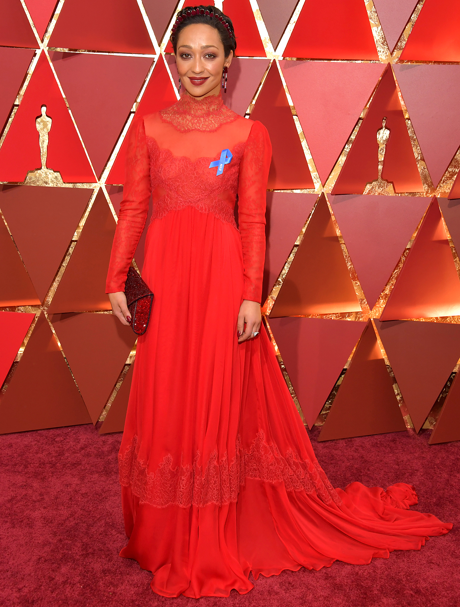 Ruth Negga attends the 89th Annual Academy Awards