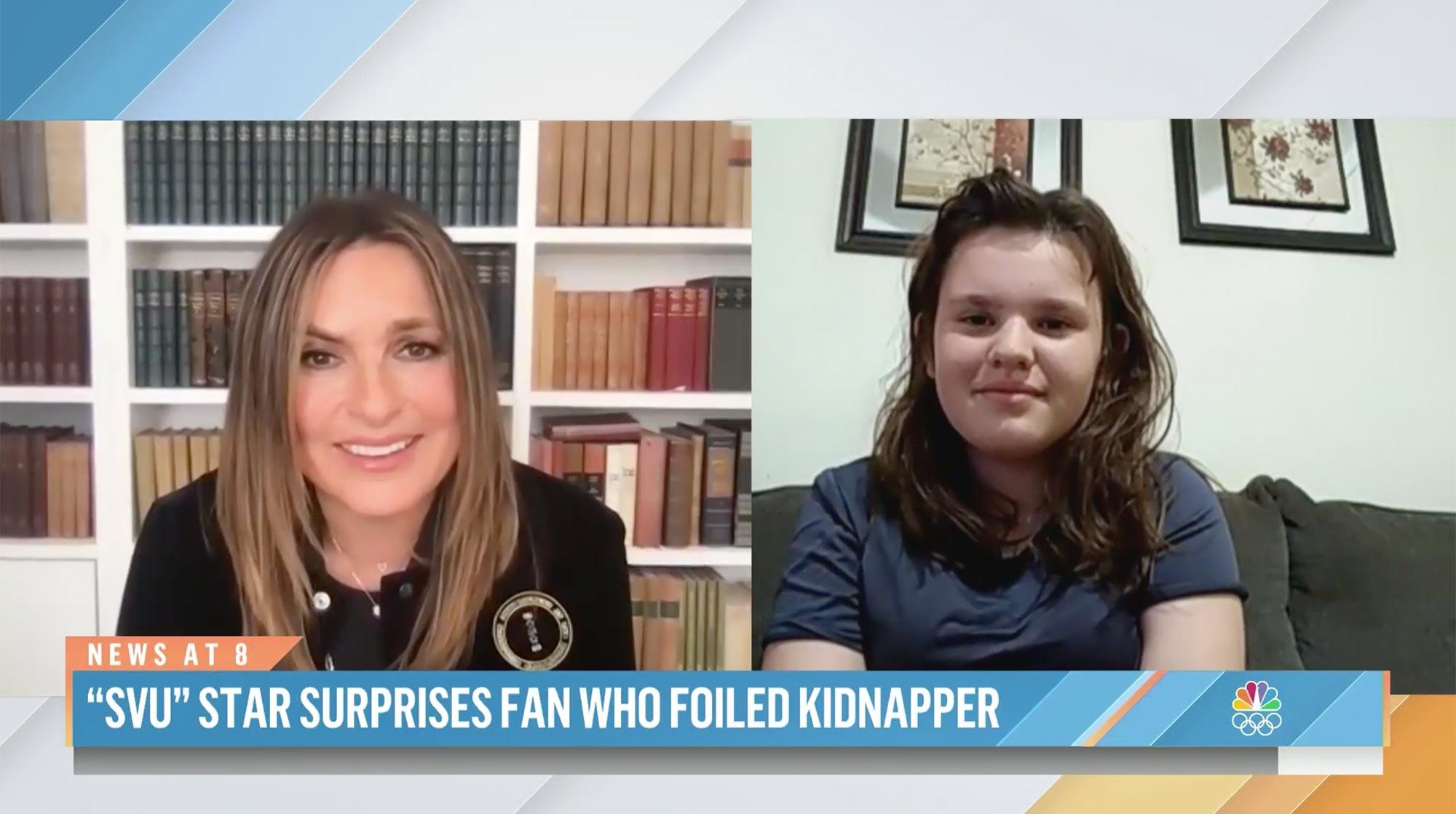Mariska Hargitay of 'SVU' surprises 11-year-old who fought off attacker