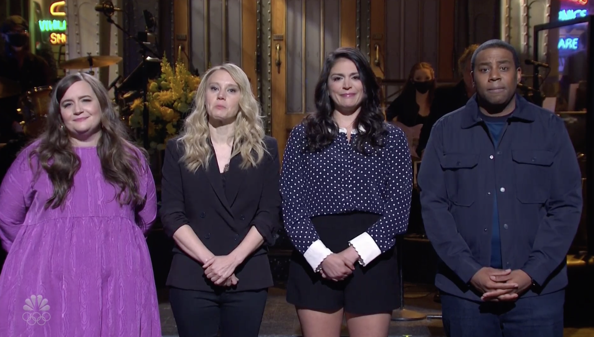 Aidy Bryant, Kate McKinnon, Cecily Strong, and Kenan Thompson on 'SNL'