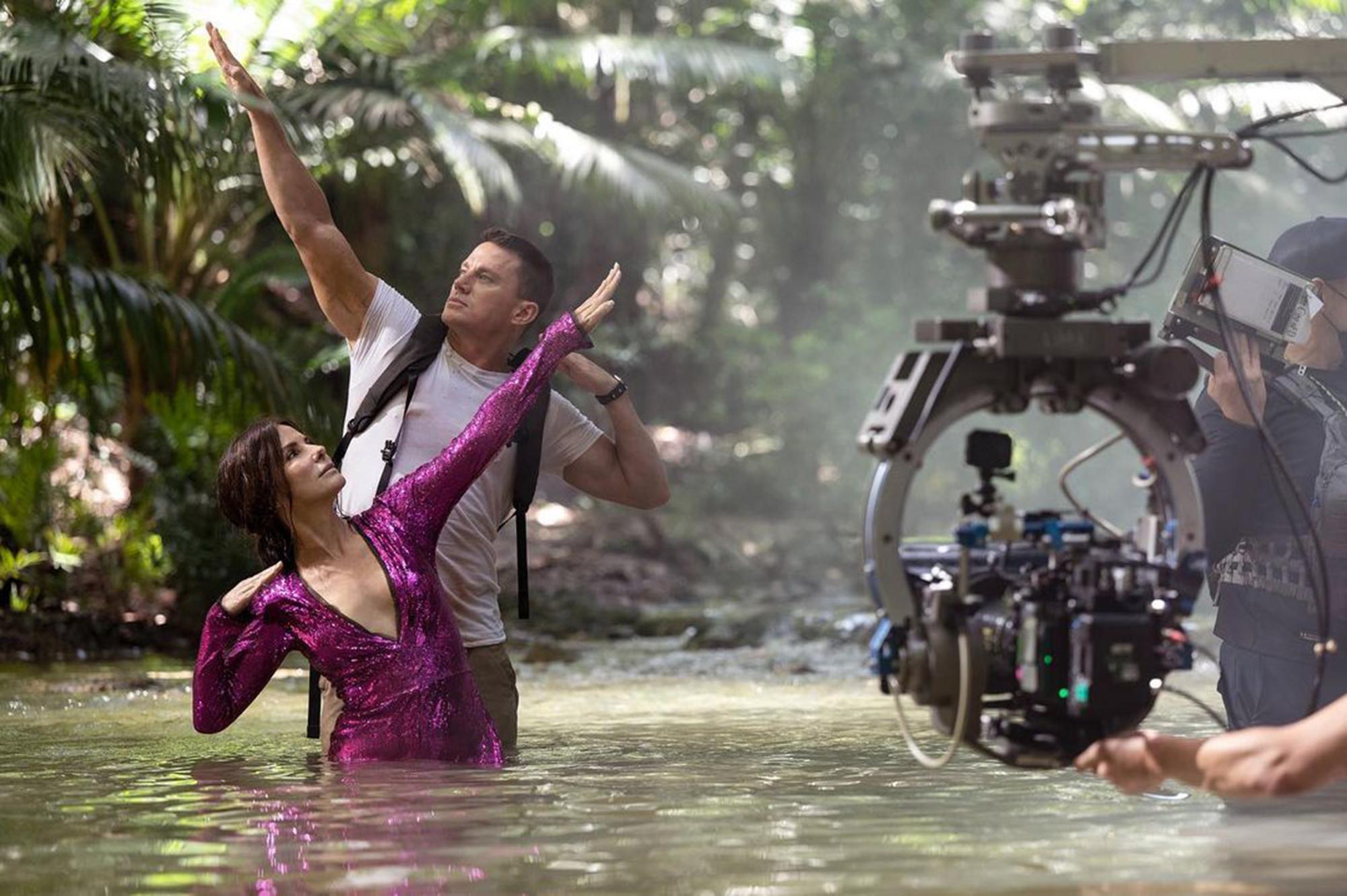 Lost City of D Channing Tatum and Sandra Bullock