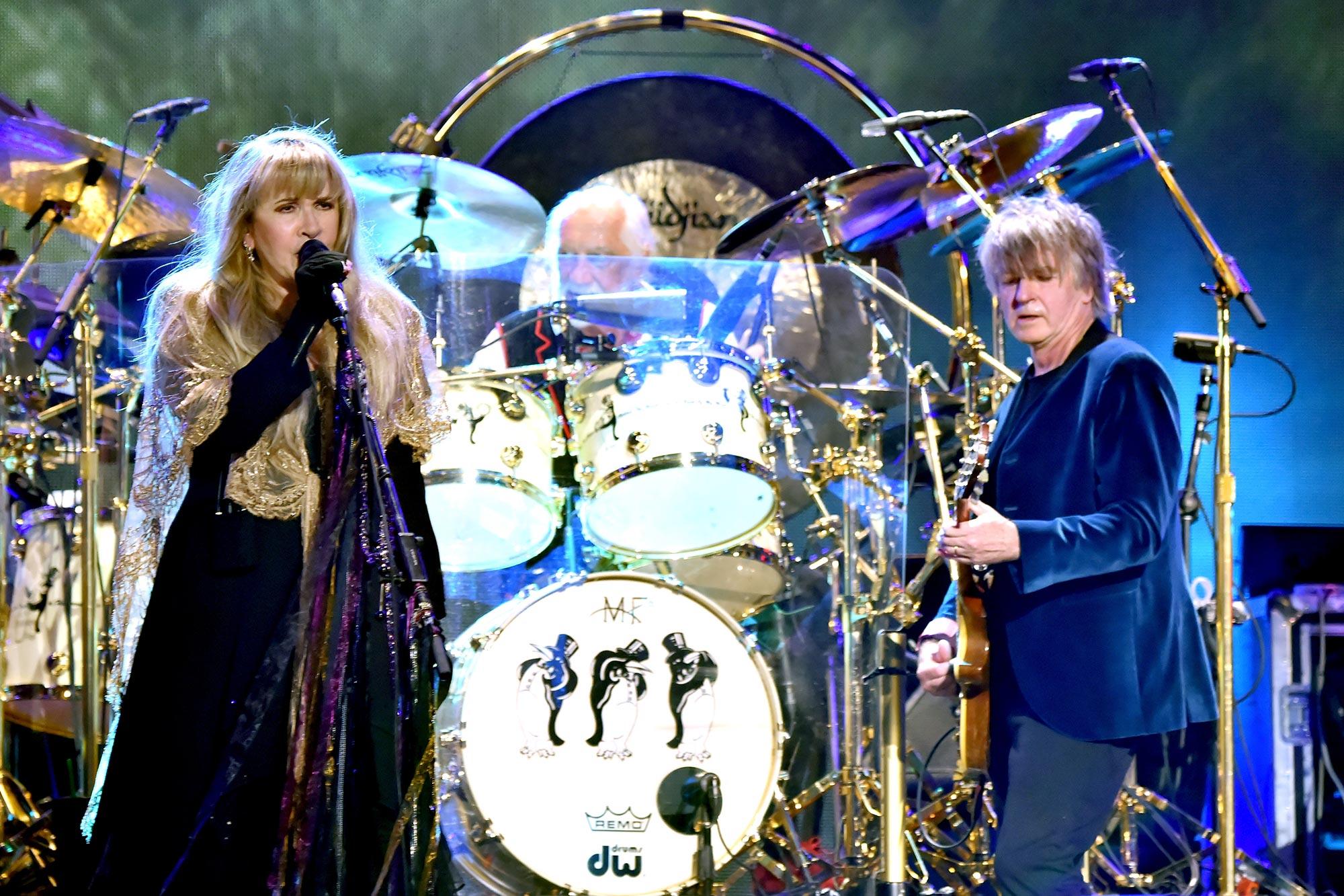 Stevie Nicks, Mick Fleetwood and Neil Finn of Fleetwood Mac