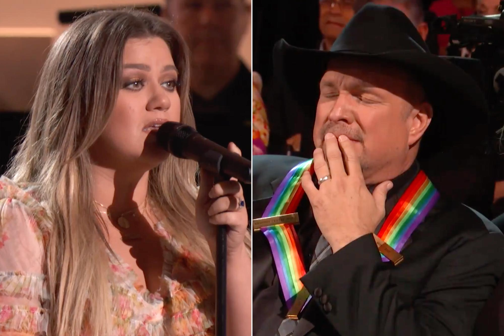 Kelly Clarkson and Garth Brooks at the Kennedy Center Honors