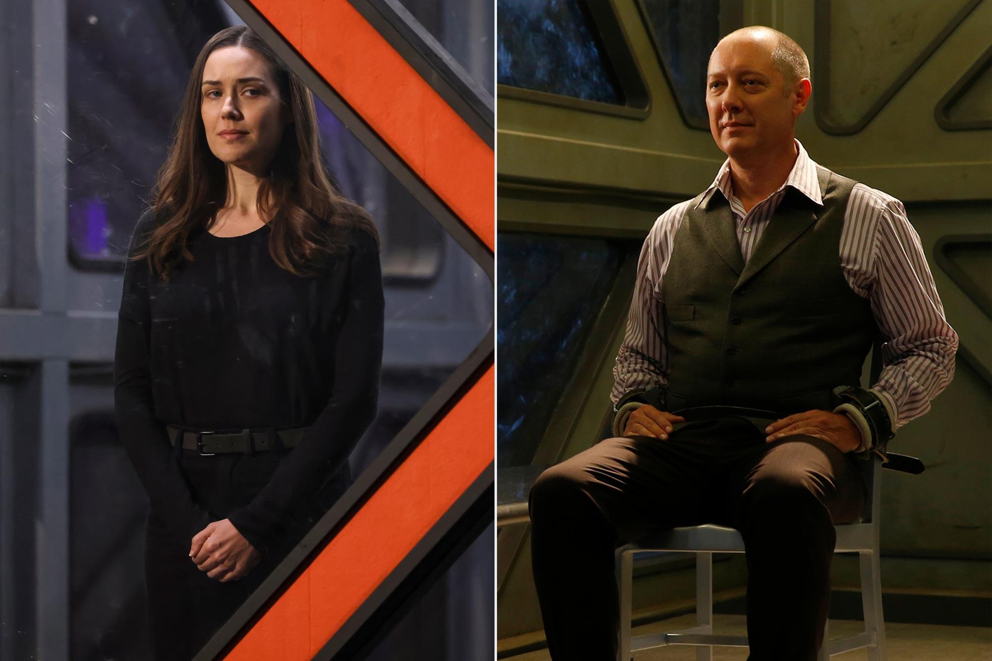 The Blacklist- Megan Boone as Liz Keen; James Spader as Raymond 'Red' Reddington