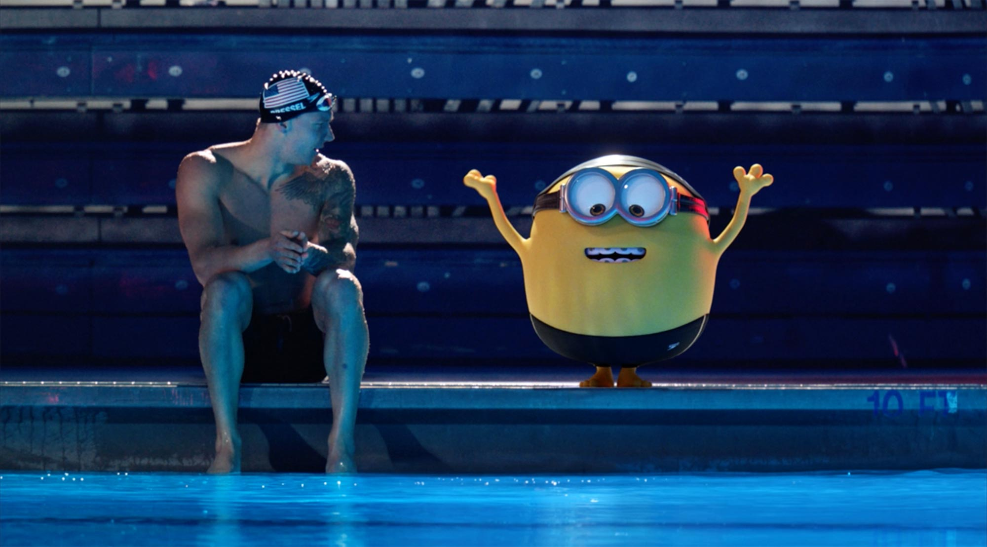 Olympians with the Minions