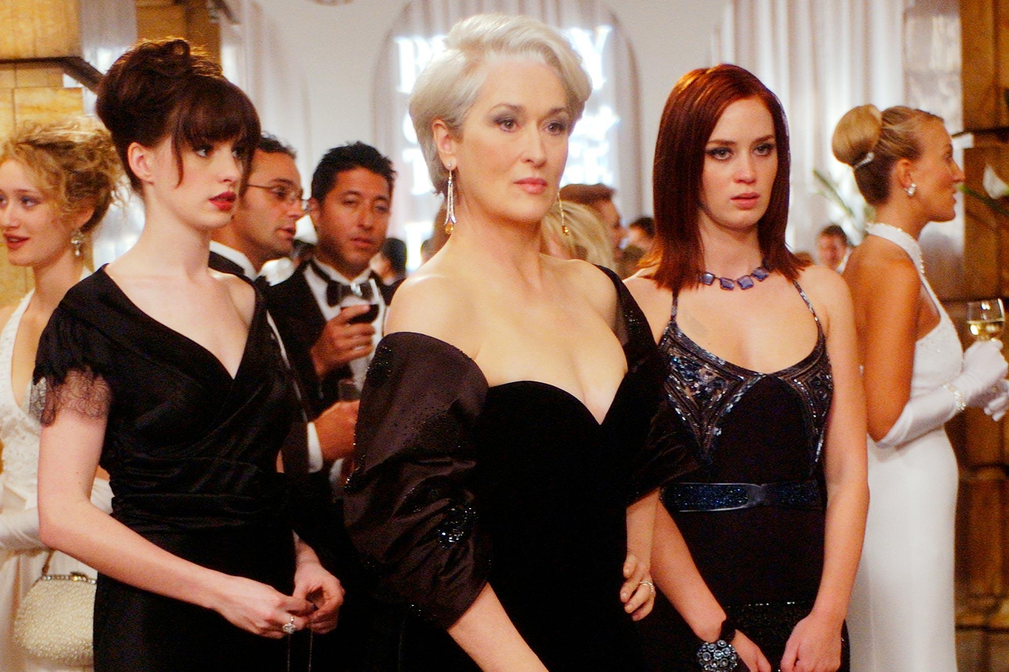 Anne Hathaway, Meryl Streep, and Emily Blunt in 'The Devil Wears Prada.'