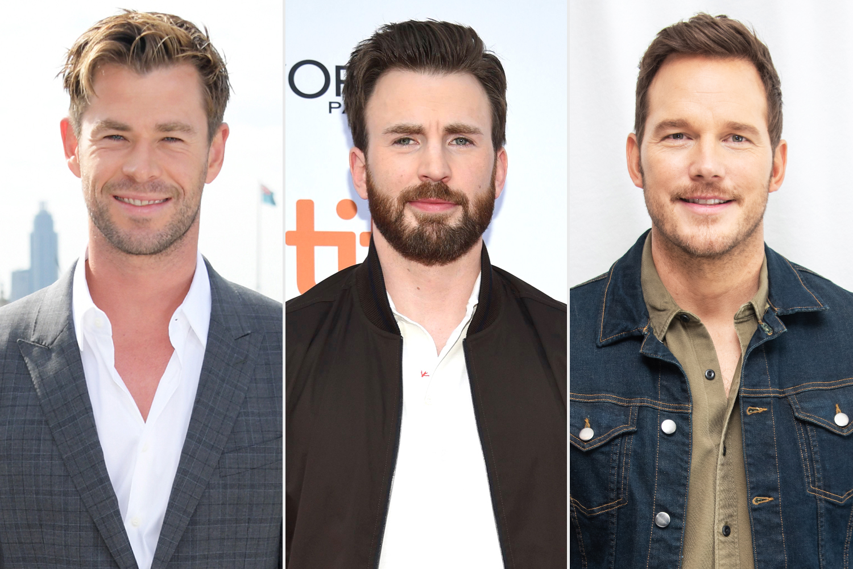 Chris Hemsworth, Chris Evans, Chris Pratt