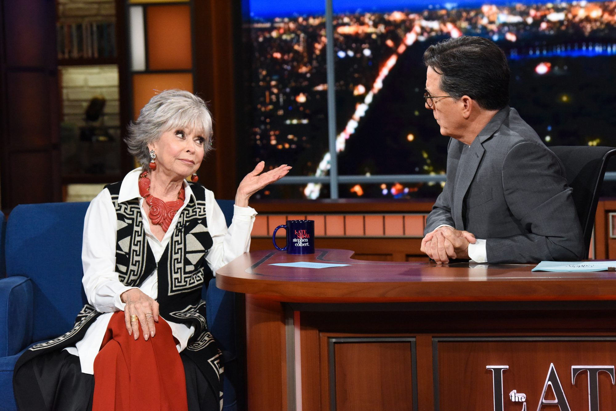 The Late Show with Stephen Colbert and guest Rita Moreno