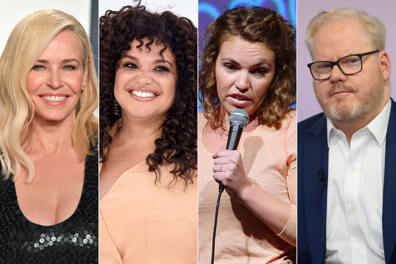 Chelsea Handler, Michelle Buteau, Beth Stelling, and Jim Gaffigan