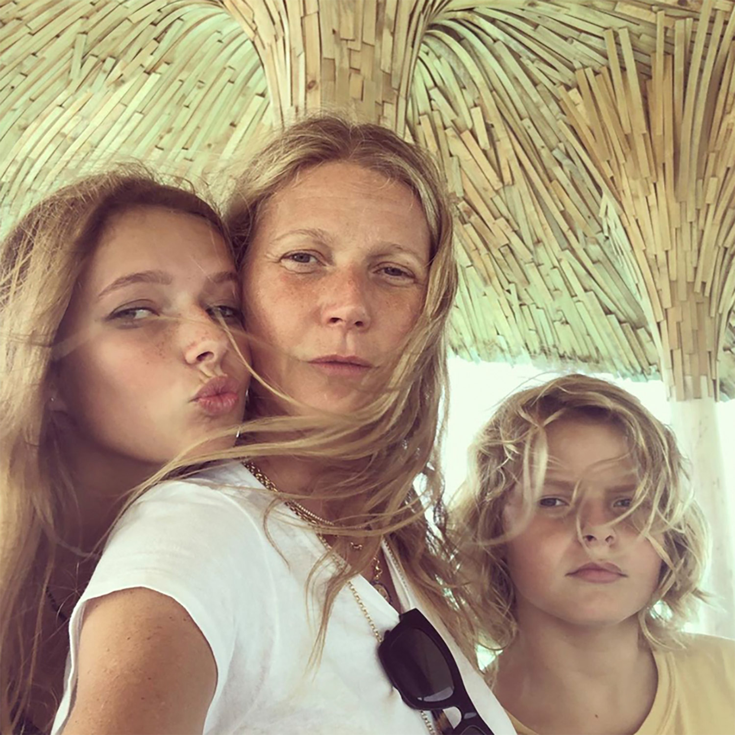 Gwyneth Paltrow with kids Apple and Moses