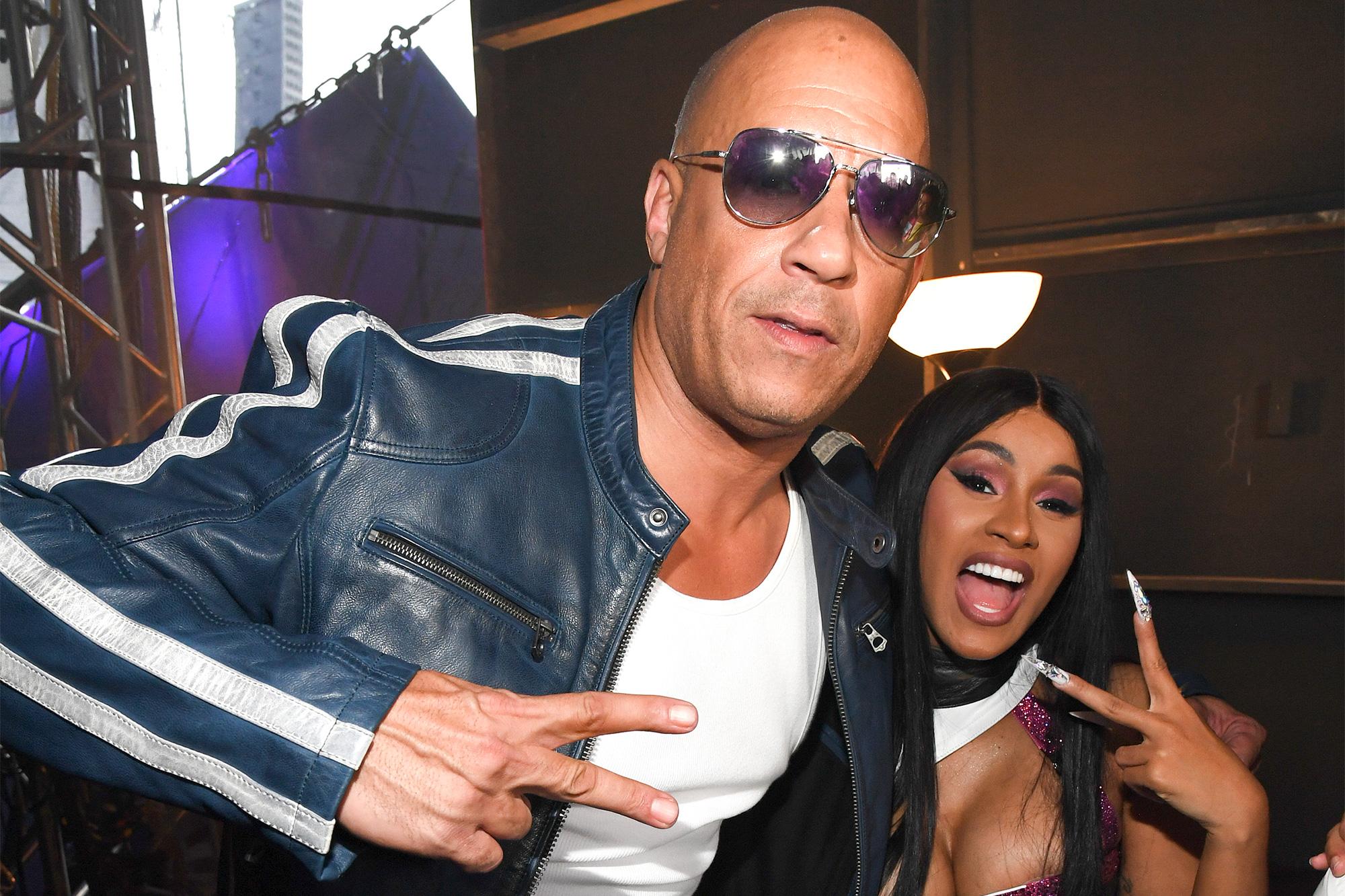 Vin Diesel and Cardi B