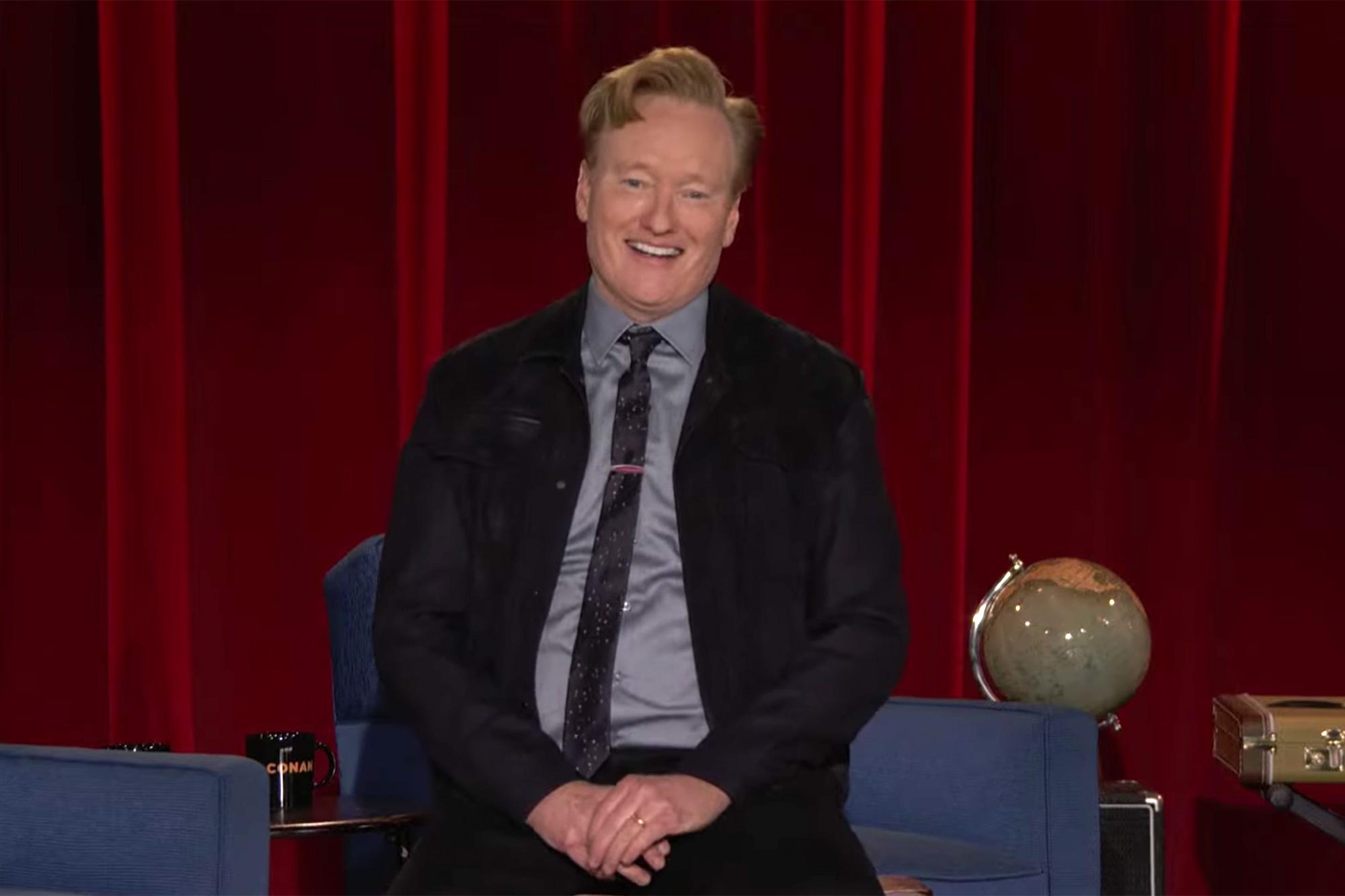 Conan says farewell