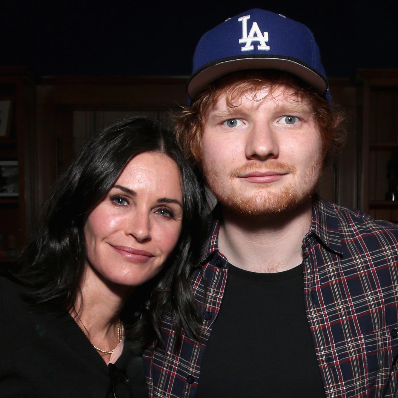 Courteney Cox and Ed Sheeran