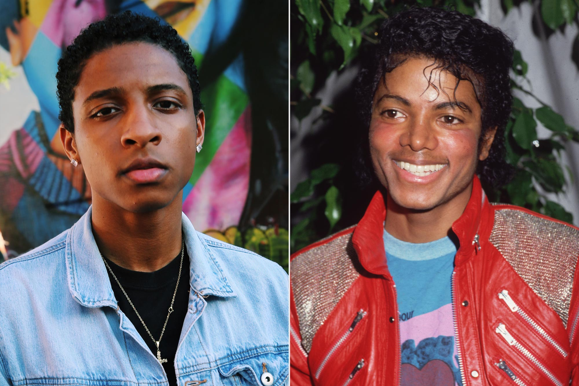 Myles Frost and Michael Jackson