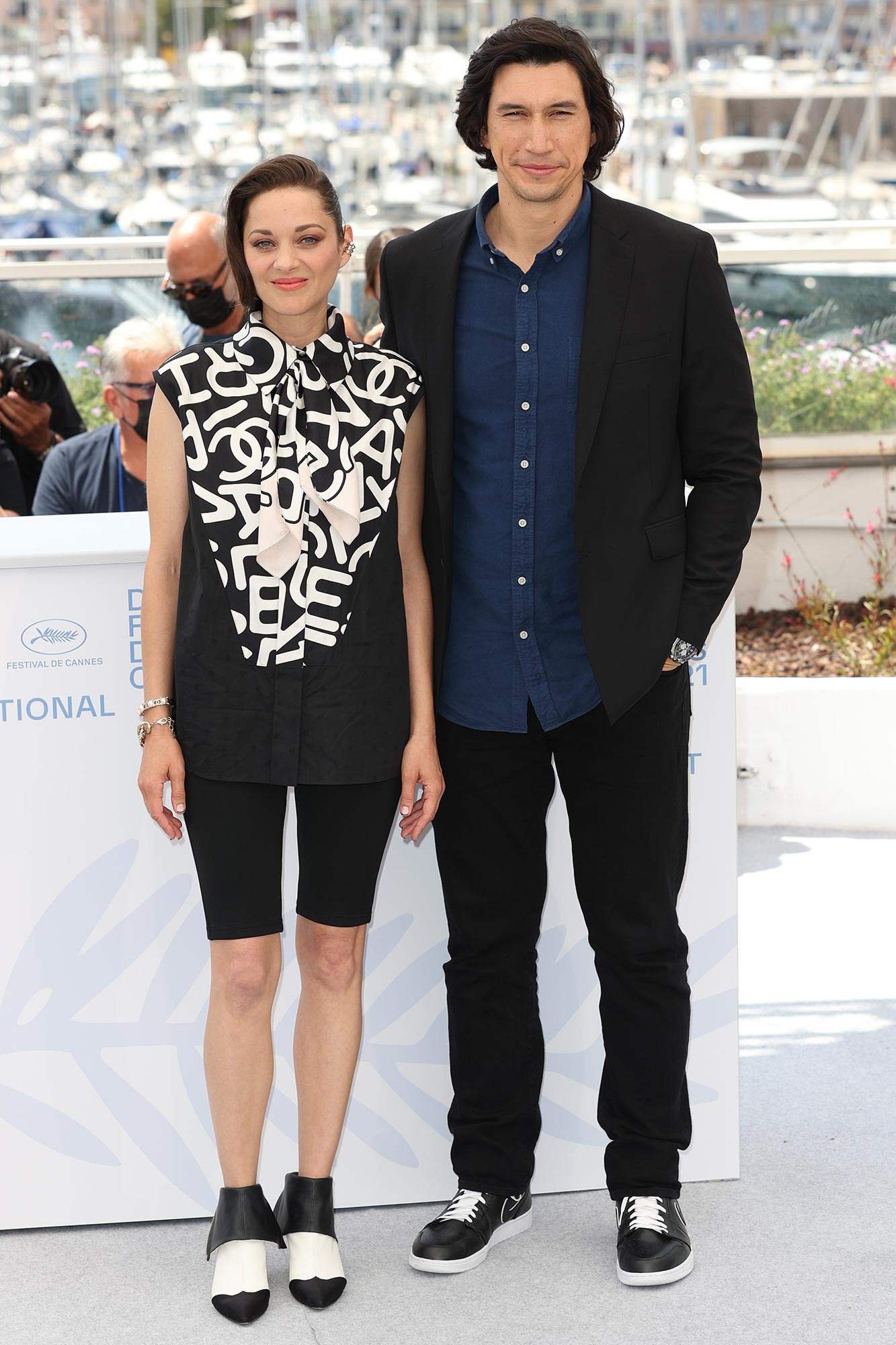 Cannes 2021 Red Carpet - Marion Cotillard and Adam Driver