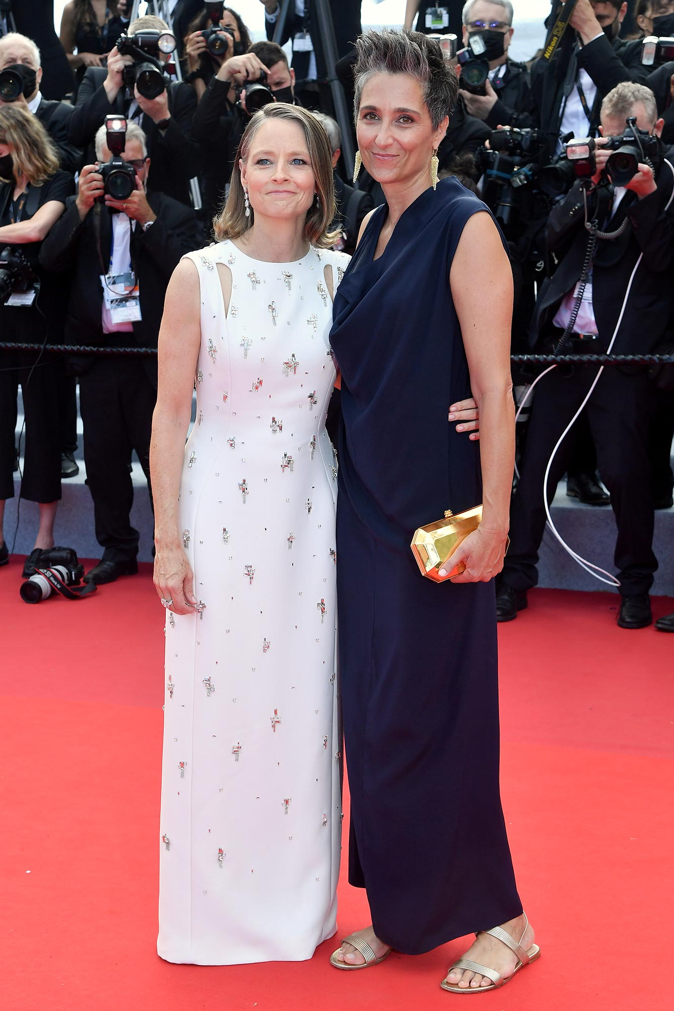 Cannes 2021 Red Carpet - Jodie Foster and Alexandra Hedison