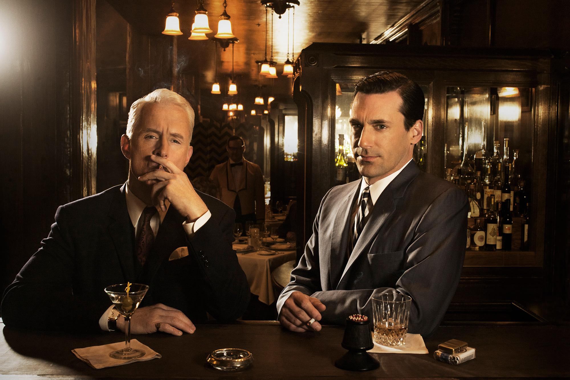 Mad Men John Slattery and Jon Hamm