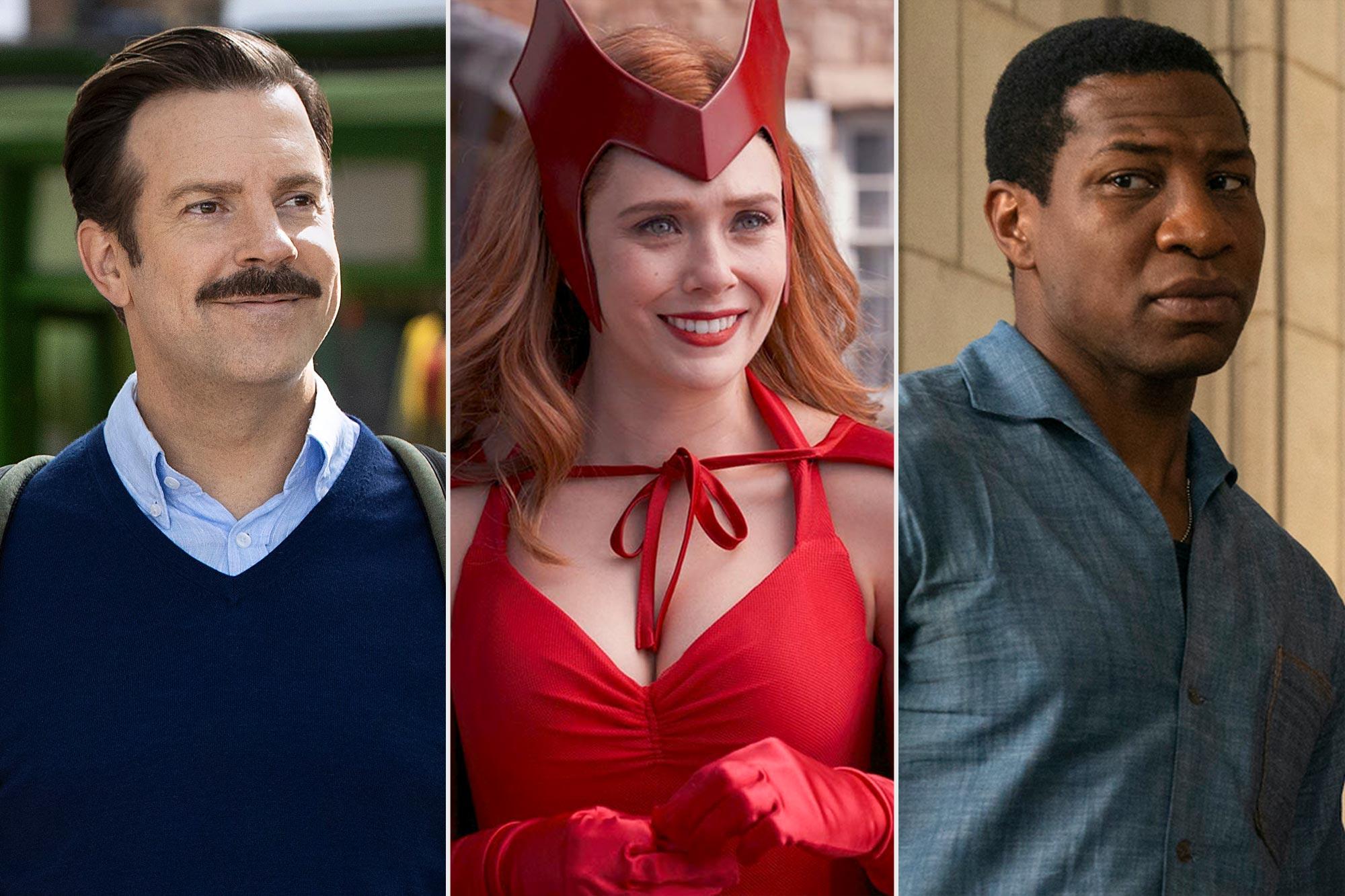 Emmy Nominations- Jason Sudeikis on Ted Lasso, Elizabeth Olsen on WandaVision, jonathan majors on lovecraft country