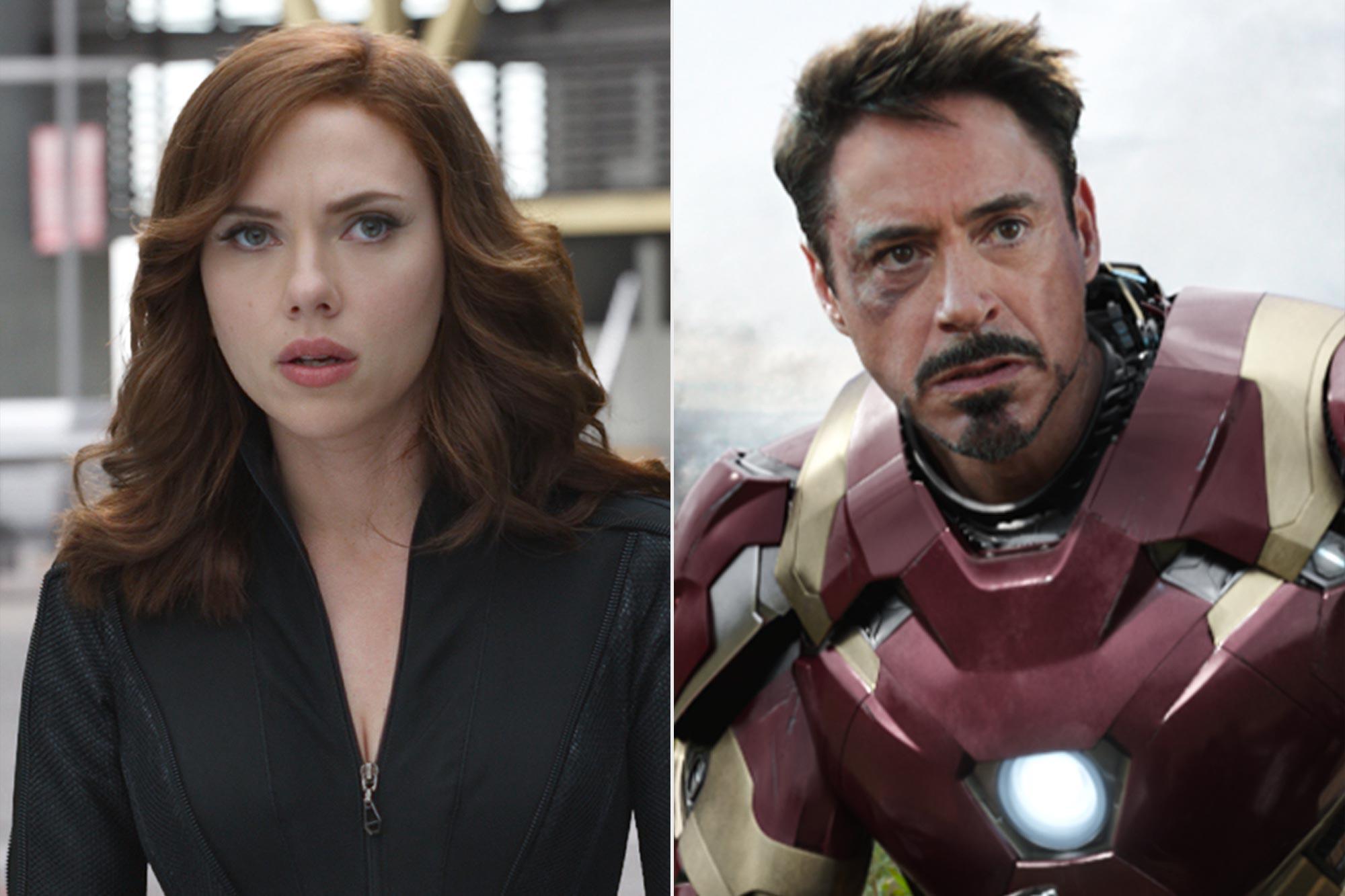 Captain America: Civil War Black Widow and Iron Man