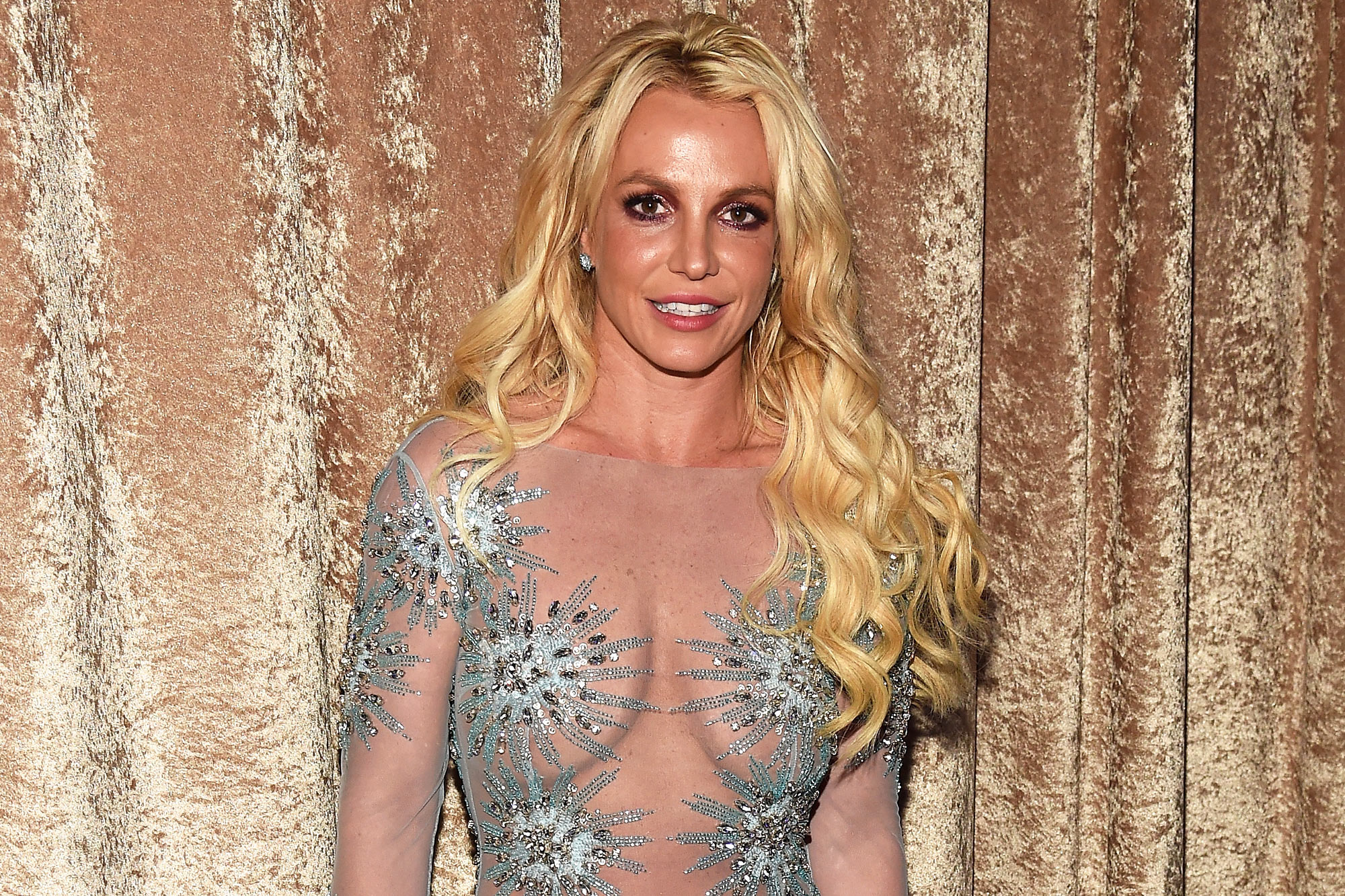 Britney Spears attends Pre-GRAMMY Gala and Salute to Industry Icons Honoring Debra Lee at The Beverly Hilton on February 11, 2017 in Los Angeles, California.