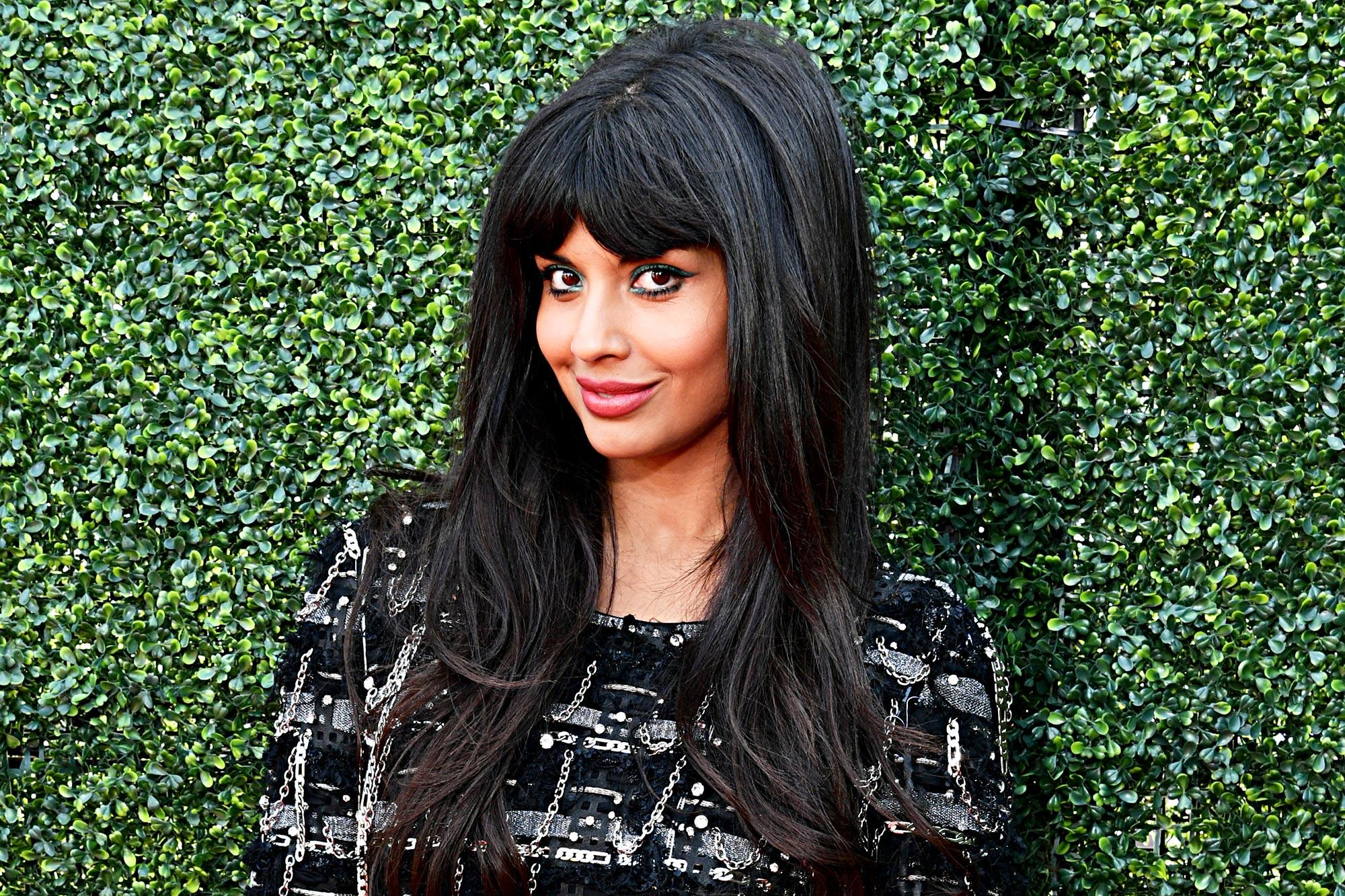 Jameela Jamil attends the 2019 MTV Movie and TV Awards at Barker Hangar on June 15, 2019 in Santa Monica, California.
