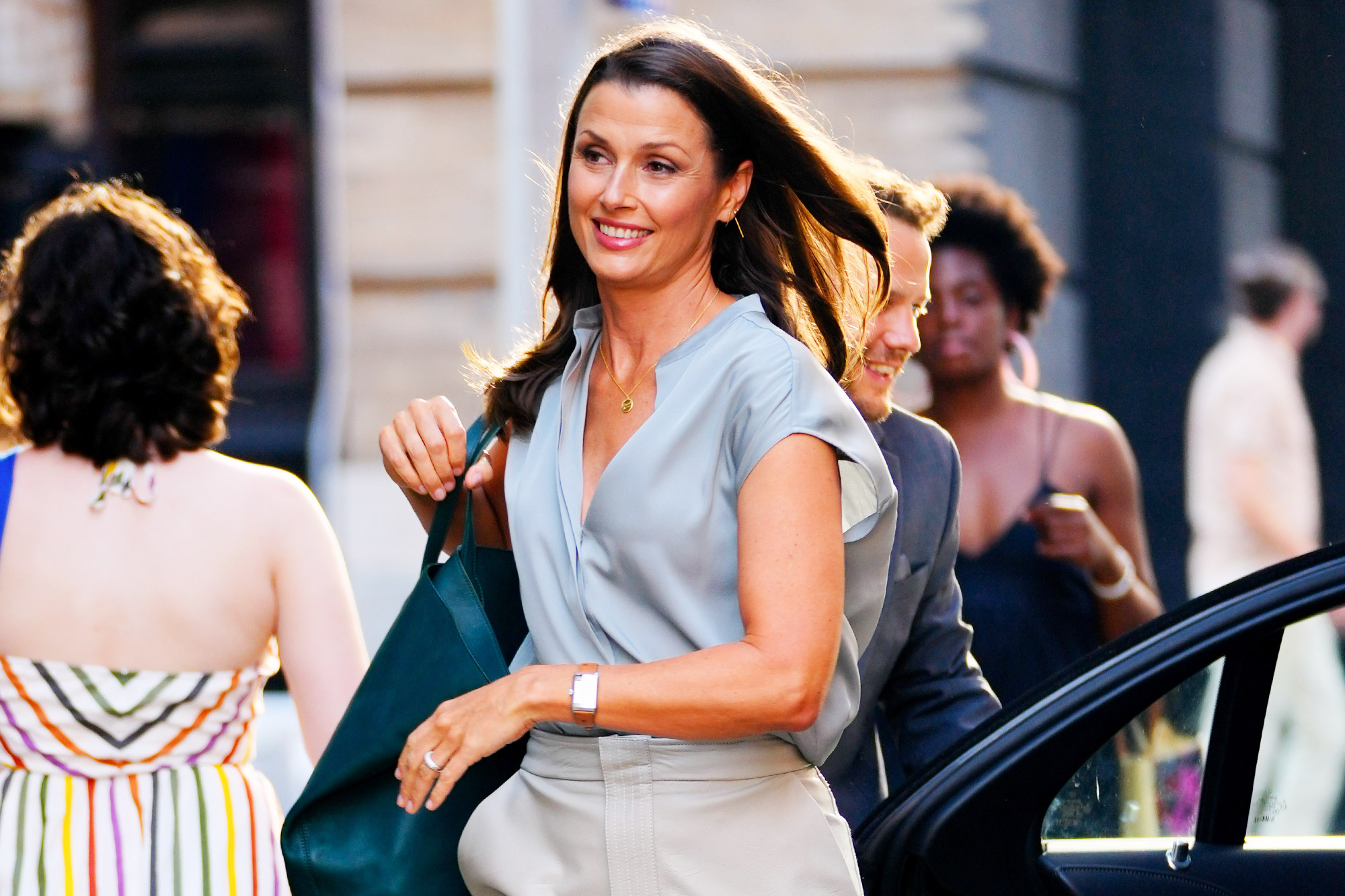 Bridget Moynahan on location for 'And Just Like That...' the reboot to 'Sex and the City' on July 19, 2021 in New York City