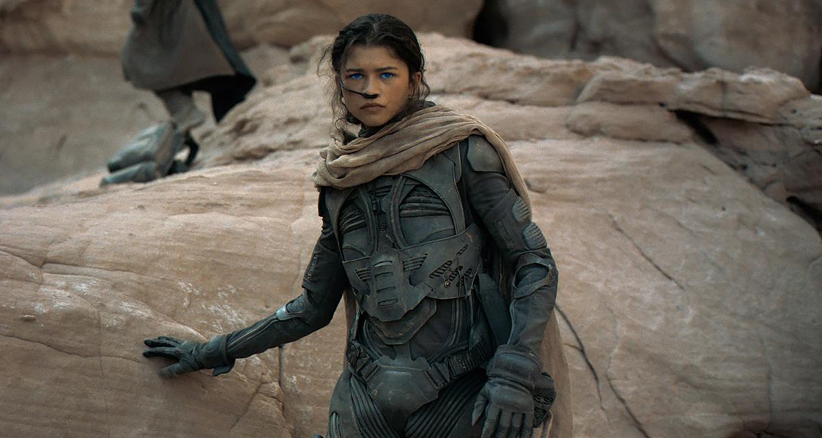 Zendaya in new 'Dune' trailer; credit: Warner Bros.