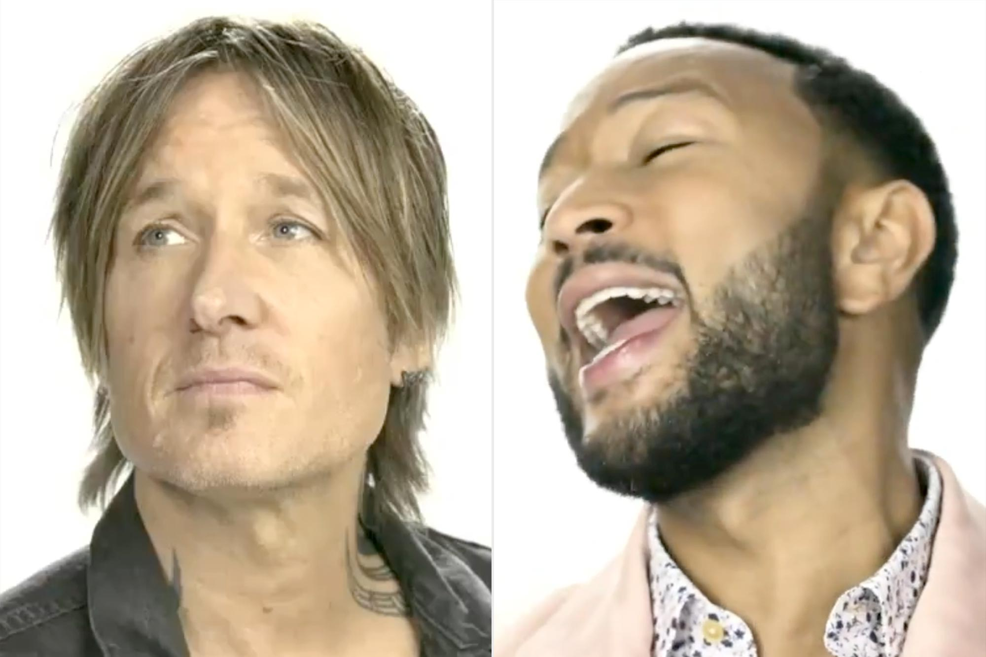 Keith Urban and John Legend singing Imagine at the Tokyo Opening Ceremony