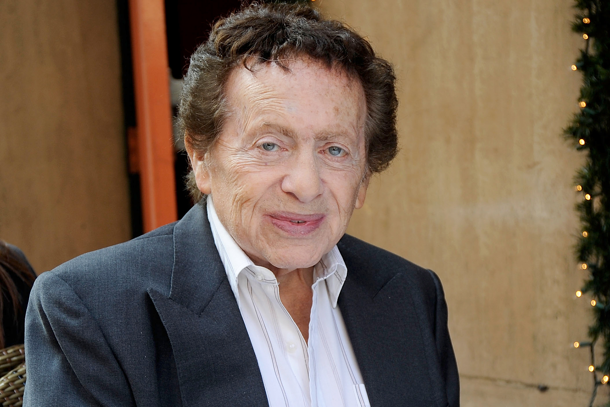 Jackie Mason has lunch on 6th Avenue in Manhattan on March 22, 2012 in New York City.