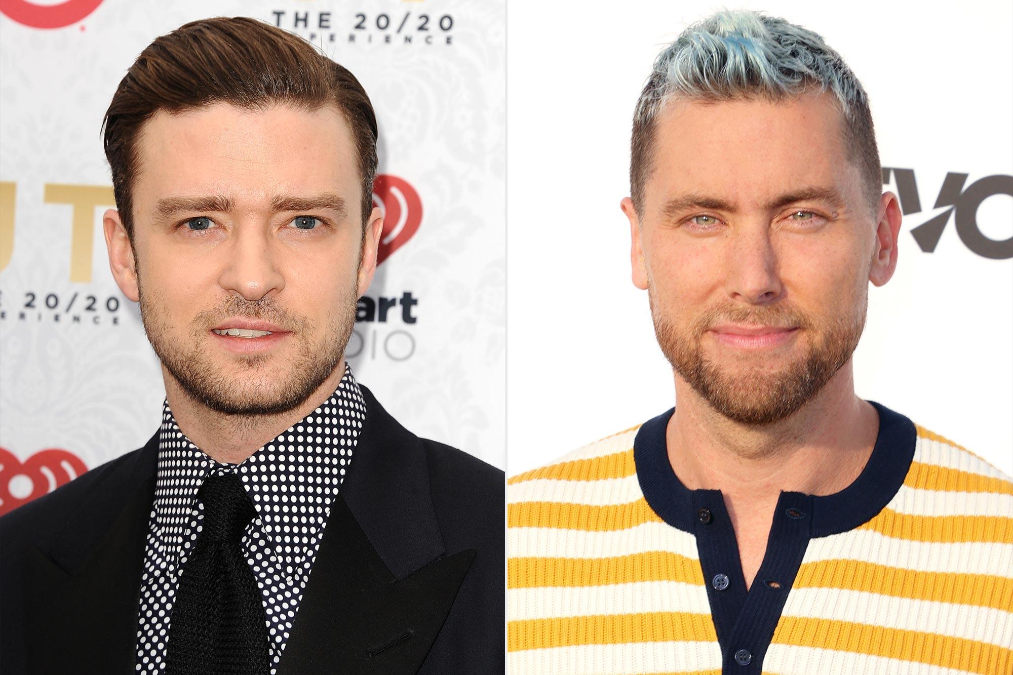 Justin Timberlake and Lance Bass