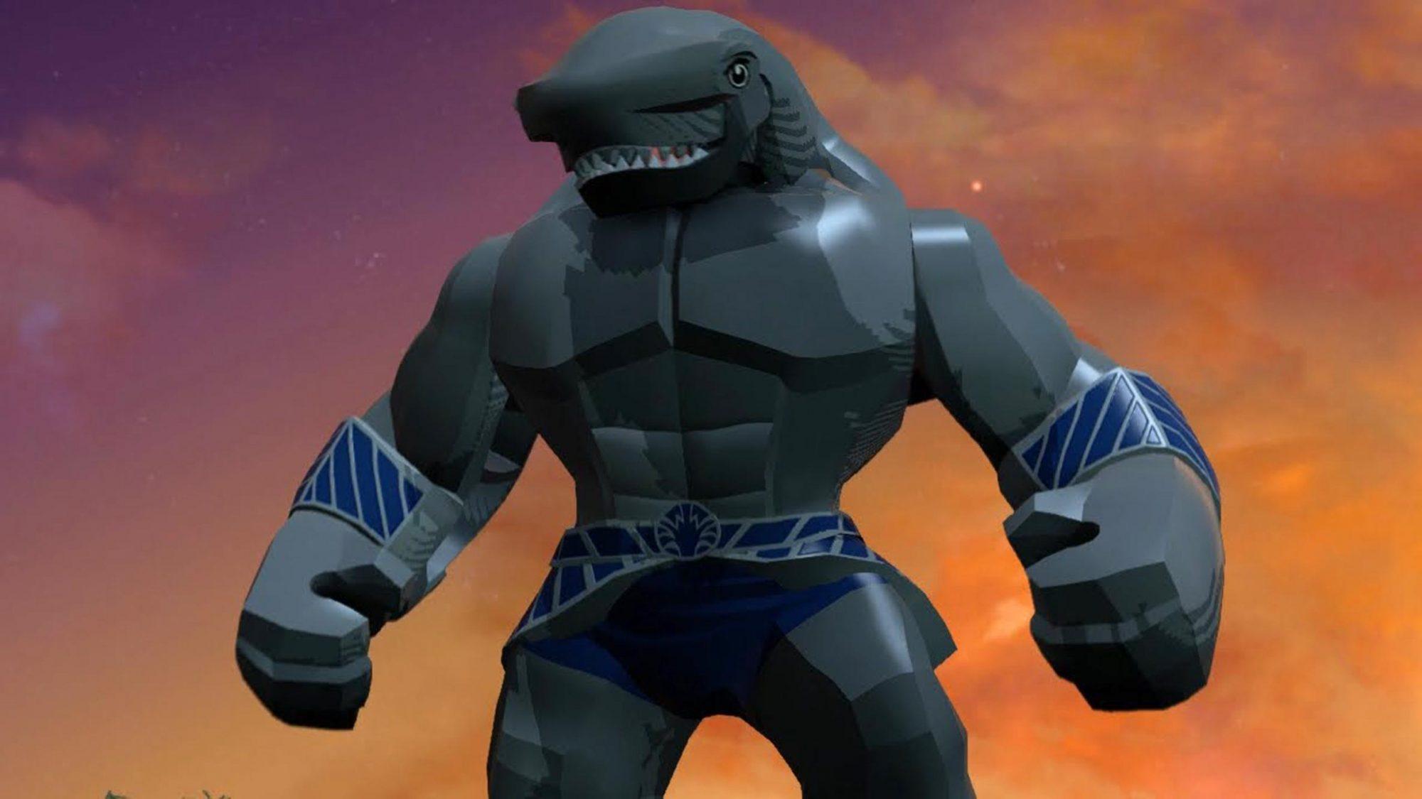 King Shark in Lego Batman 3: Beyond Gotham video game
