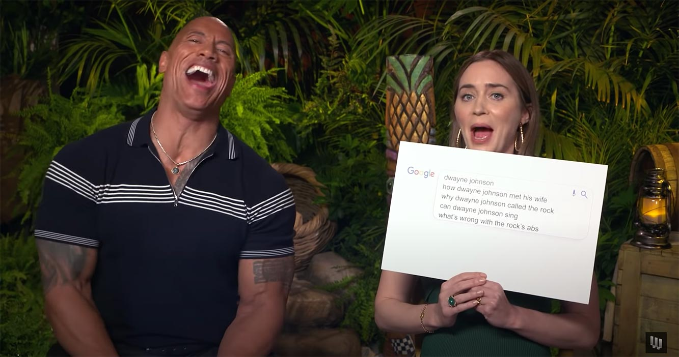Emily Blunt & Dwayne Johnson Answer The Web's Most Searched Questions | WIRED