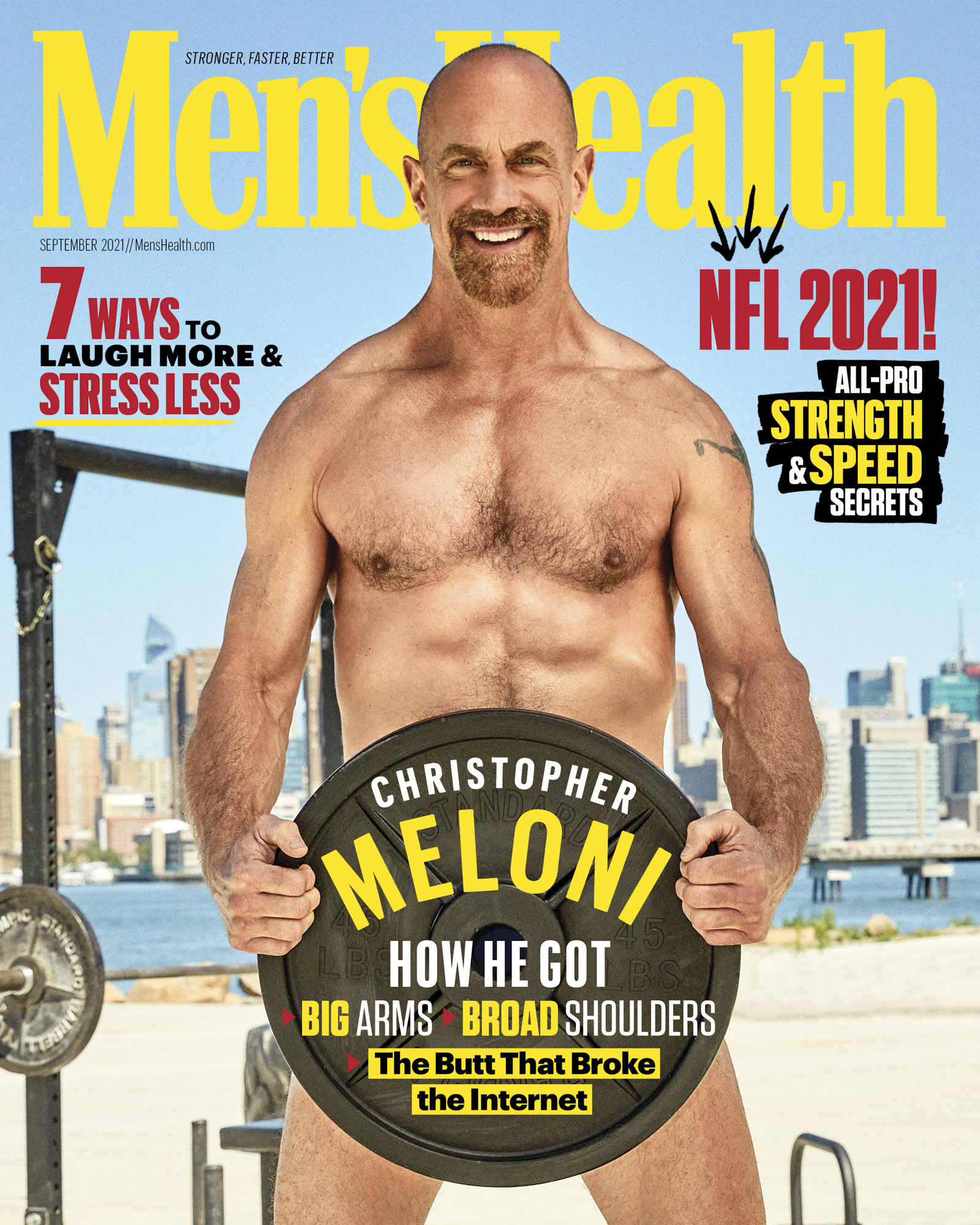 Christopher Meloni Men's Health September 2021