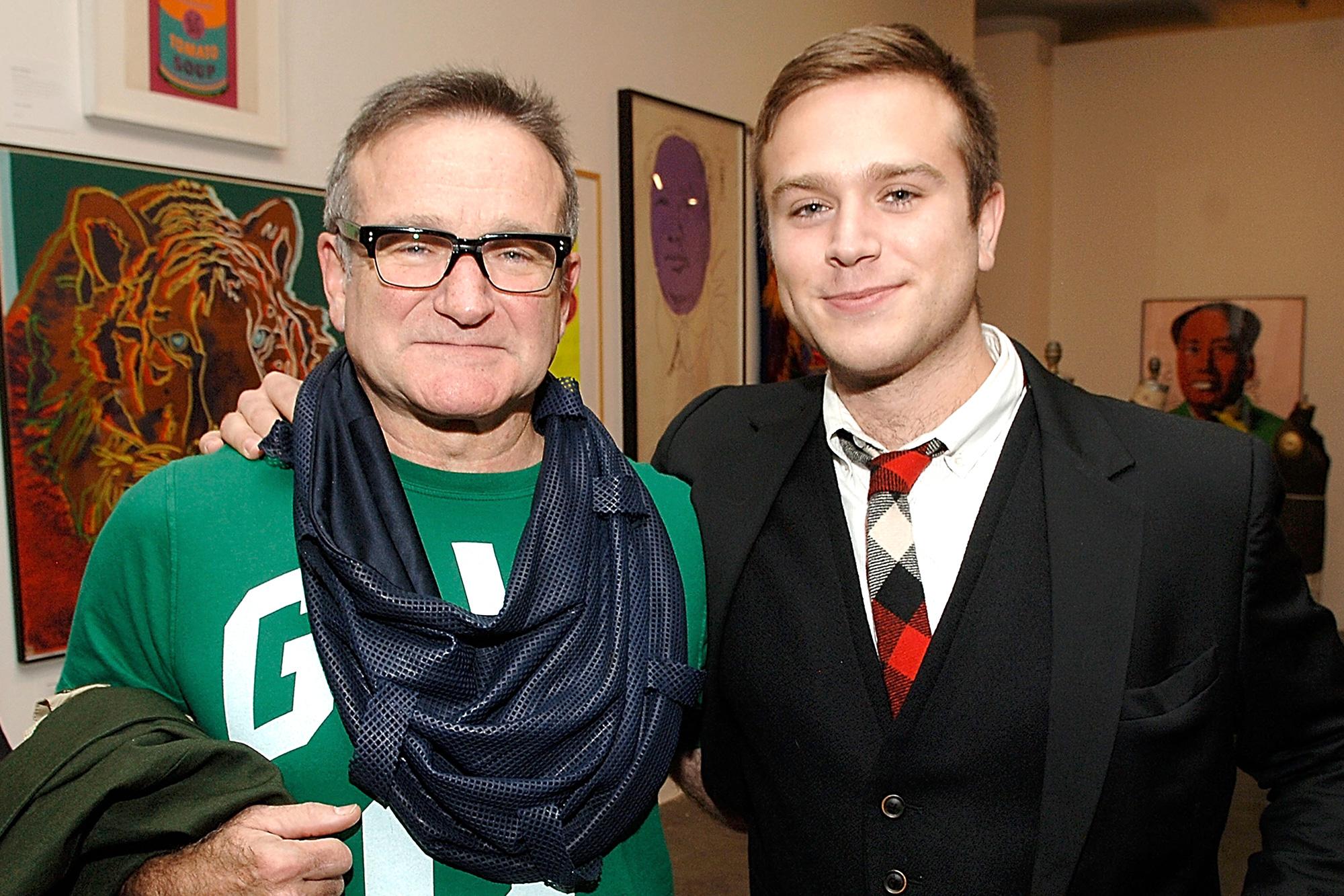 Robin Williams and Zak Williams