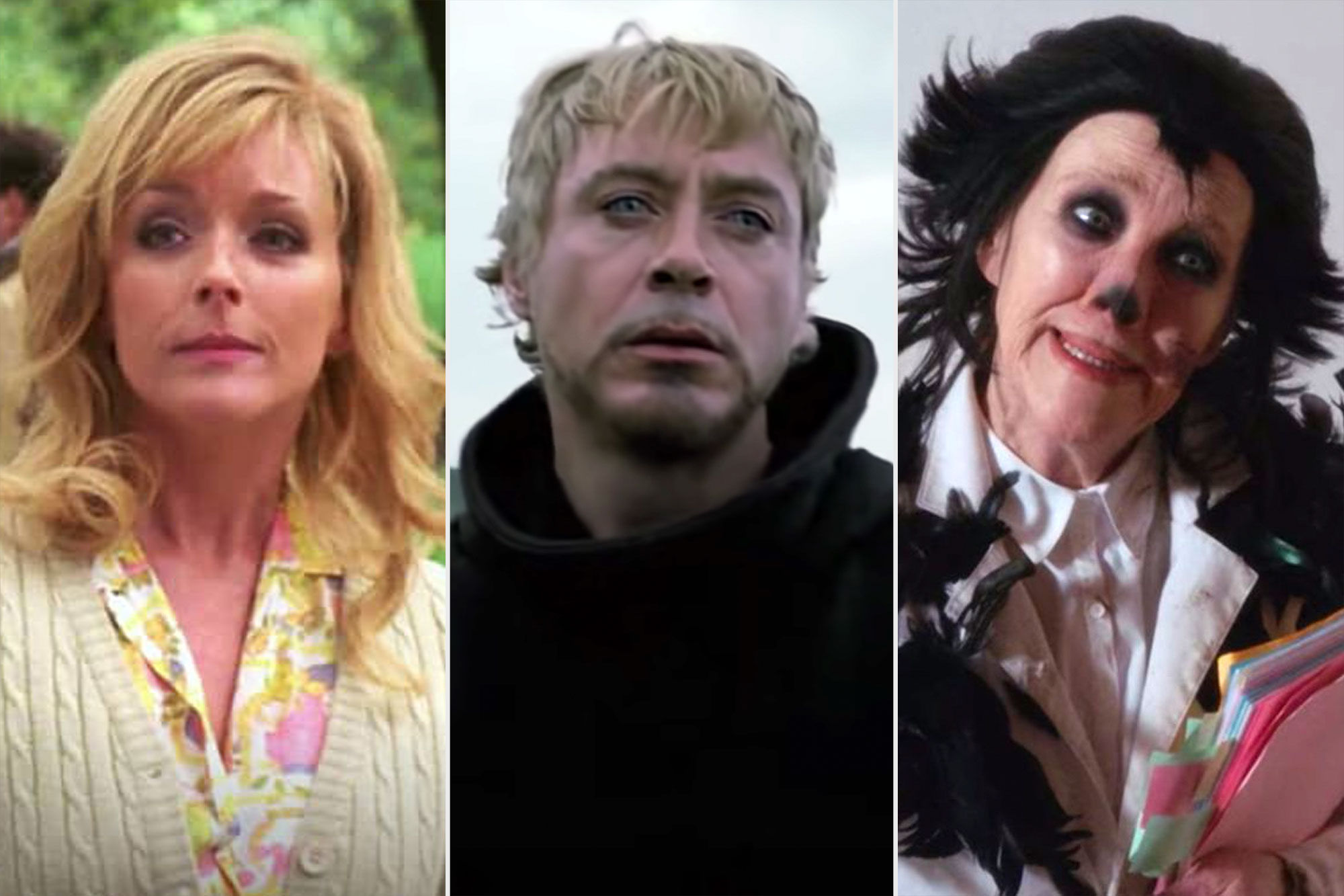 Nestflix The Rural Juror on 30 Rock, Robert Downey Jr.'s Kirk in Satan's Alley in Tropic Thunder, and Catherine O'Hara in The Crows Have Eyes in Schitt's Creek?