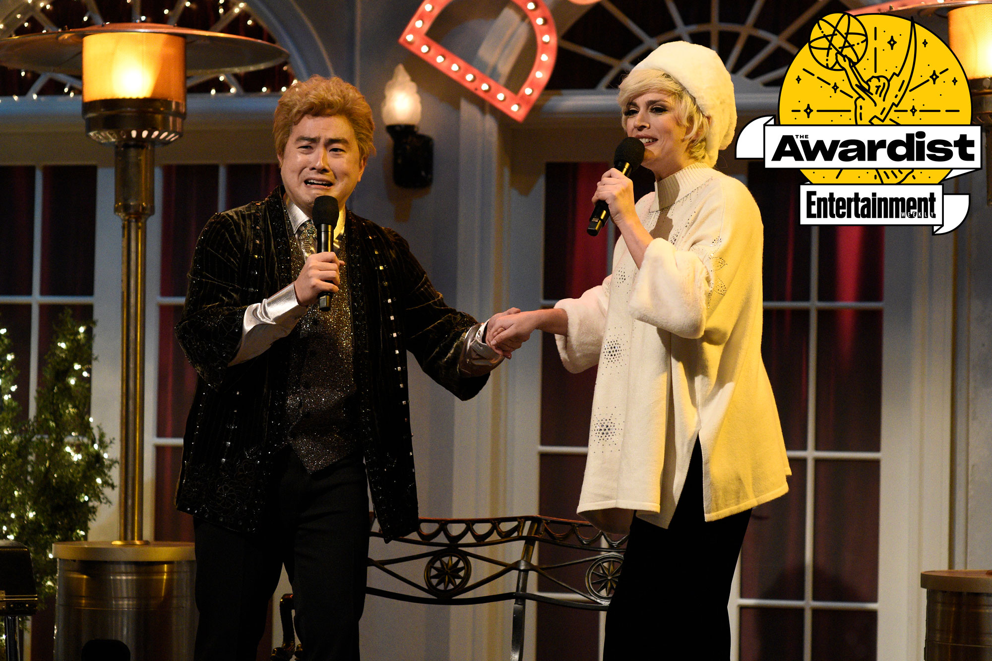 Saturday Night Live Bowen Yang and Cecily Strong,