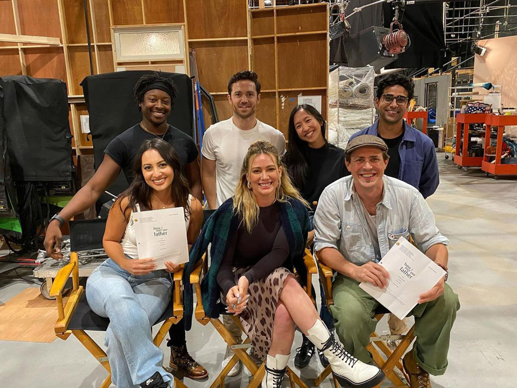 How I Met Your Father cast photo with Hilary Duff