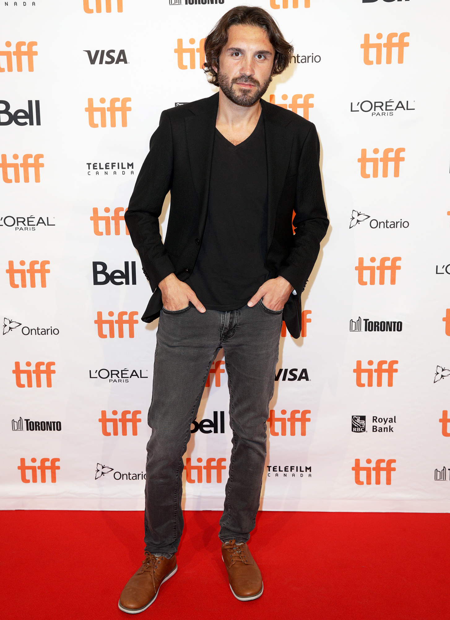 """Emre Kayis attends the """"Anatolian Leopard"""" Photo Call during the 2021 Toronto International Film Festival at TIFF Bell Lightbox on September 11, 2021 in Toronto, Ontario."""