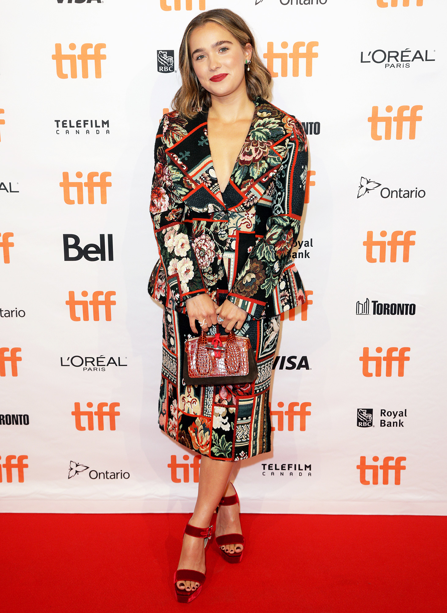 """Haley Lu Richardson attends the """"Montana Story"""" Photo Call during the 2021 Toronto International Film Festival at TIFF Bell Lightbox on September 11, 2021 in Toronto, Ontario."""
