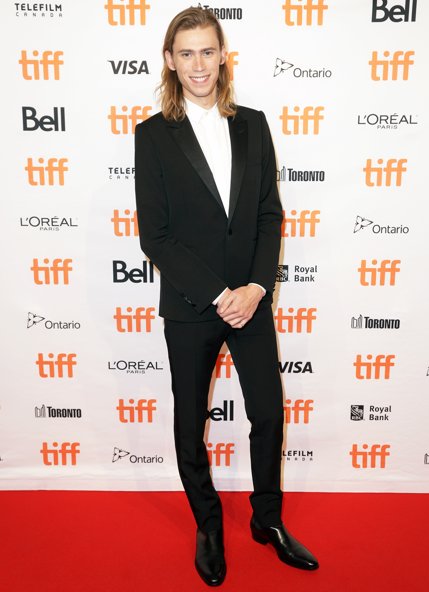 """Owen Teague attends the """"Montana Story"""" Photo Call during the 2021 Toronto International Film Festival at TIFF Bell Lightbox on September 11, 2021 in Toronto, Ontario."""