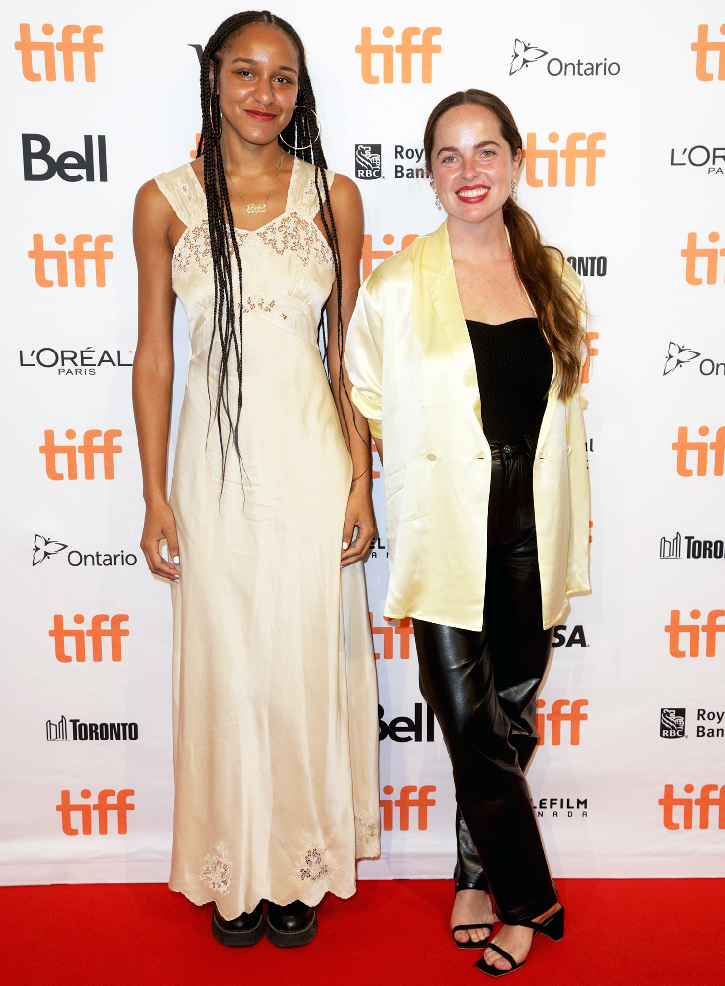 "(L-R) Rebeca Huntt and Sofia Geld attend the ""Beba"" Photo Call during the 2021 Toronto International Film Festival at TIFF Bell Lightbox on September 11, 2021 in Toronto, Ontario."