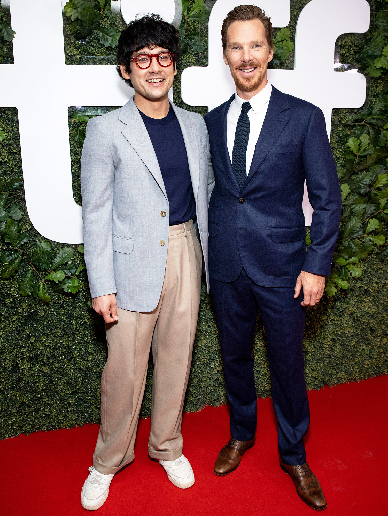 """Will Sharpe and Benedict Cumberbatch attend """"The Electrical Life Of Louis Wain"""" Premiere during the 2021 Toronto International Film Festival at Roy Thomson Hall on September 11, 2021 in Toronto, Ontario."""