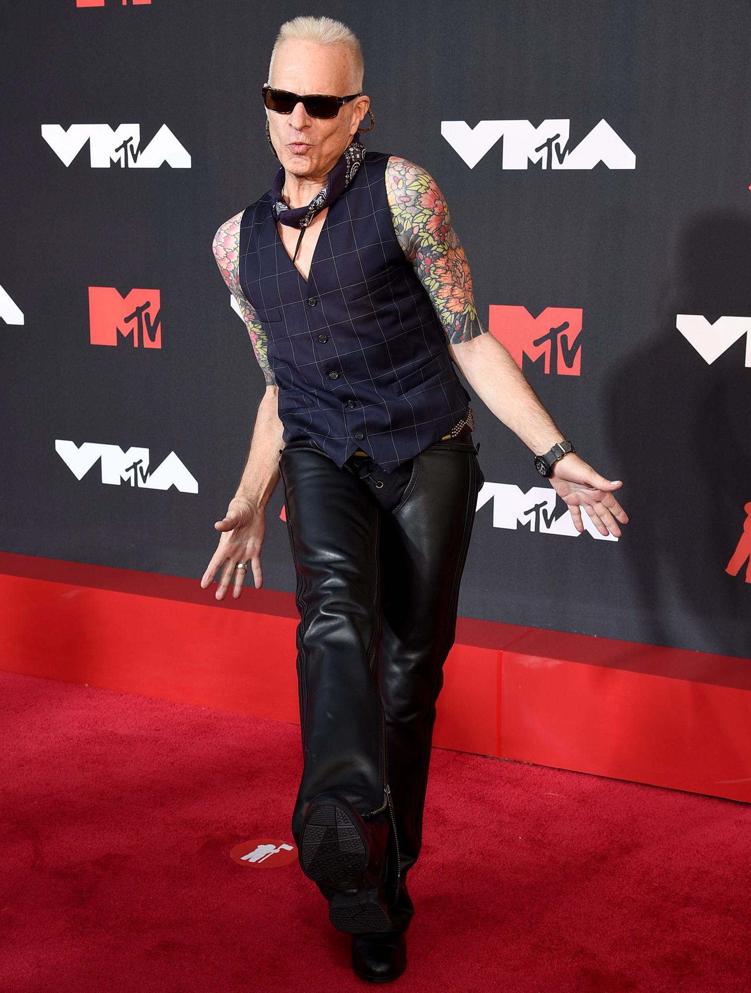 David Lee Roth arrives at the 2021 MTV Video Music Awards