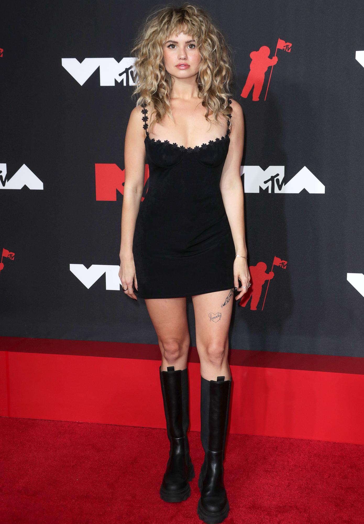 Debby Ryan arrives at the 2021 MTV Video Music Awards