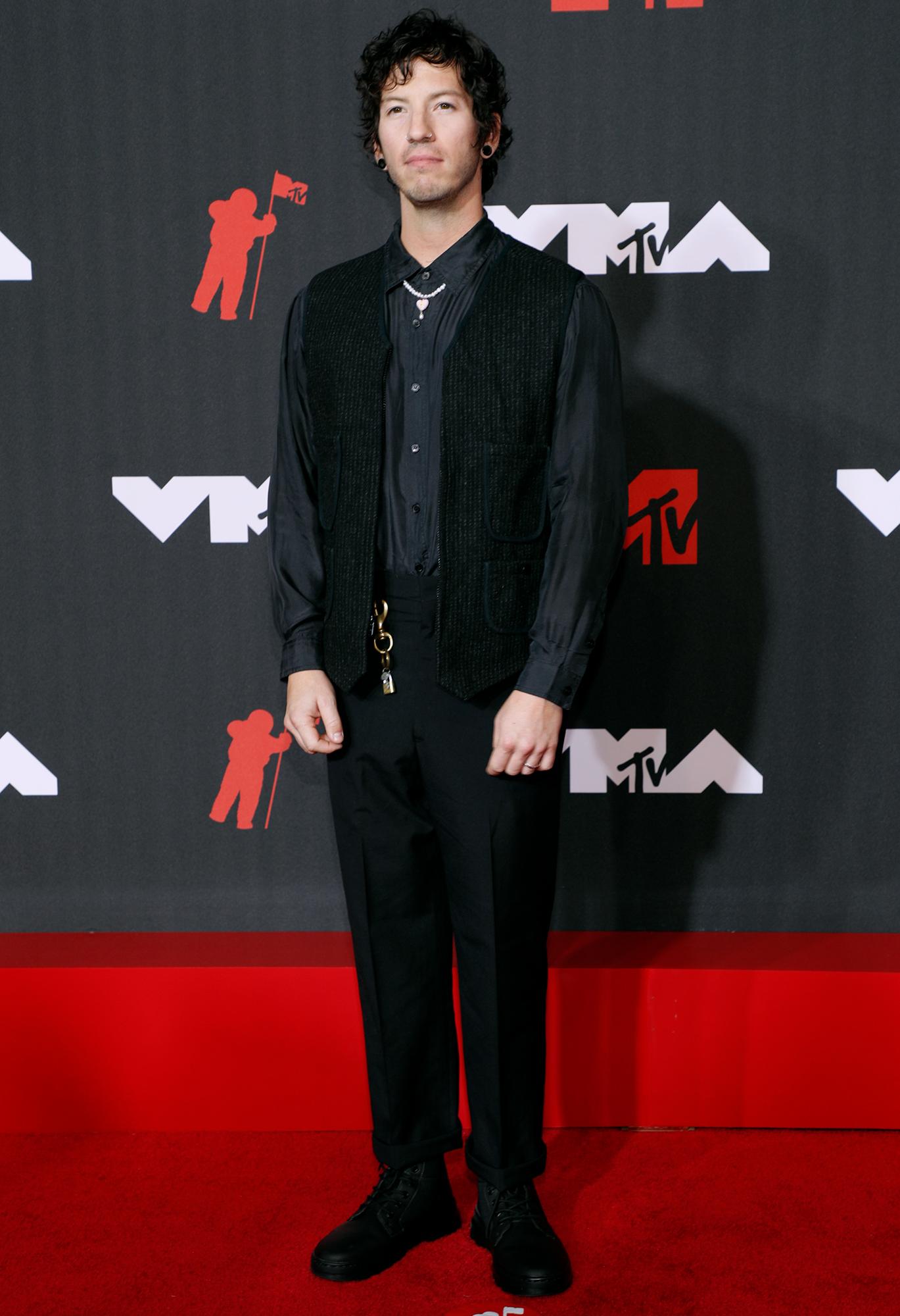 Josh Dun arrives at the 2021 MTV Video Music Awards