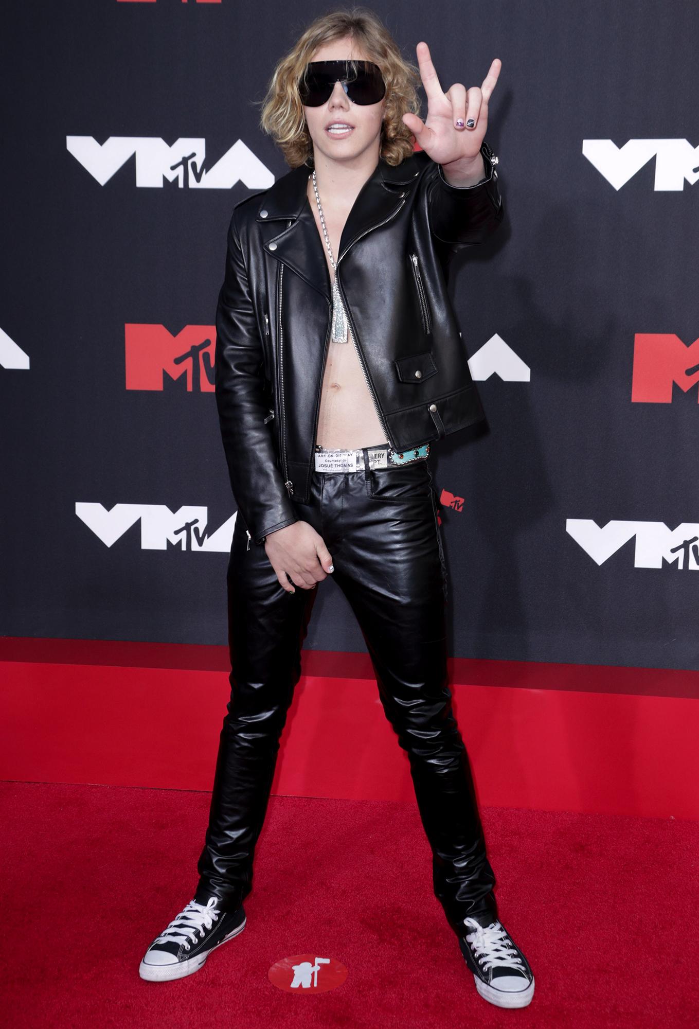 The Kid Laroi arrives at the 2012 MTV Video Music Awards