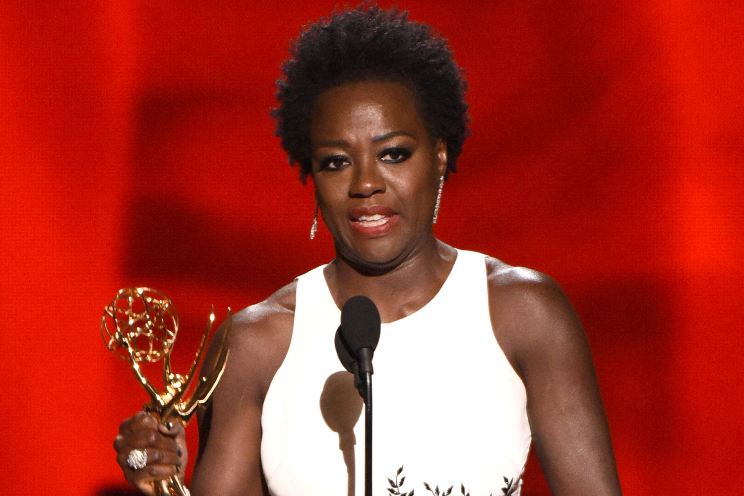 Viola Davis accepts Outstanding Lead Actress in a Drama Series award for 'How to Get Away with Murder' onstage during the 67th Annual Primetime Emmy Awards